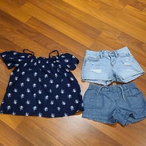 Girls shorts and top lot Size 10/12